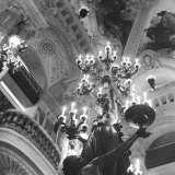 Low Angle Inside the Paris Opera House Photographic Print