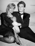 Britt Ekland and Les Mckeown Premium Photographic Print