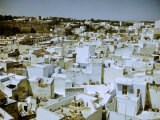 Blue Roof-Tops of the Buildings in the Medina Quarter Premium Photographic Print by Jack Birns