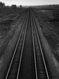 Railroad Tracks Premium Photographic Print by Andreas Feininger