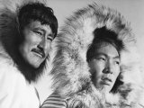 Eskimo Portraits from Artic Trip- Coppermine August 1937 Premium Photographic Print by Margaret Bourke-White