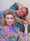 Husband and Wife Actors Paul Newman and Joanne Woodward Premium Photographic Print by Mark Kauffman