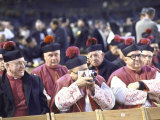 Catholic Bishops Awaiting Arrival of Pope Paul Vi at Yankee Stadium During His Historic Visit Premium Photographic Print by Bill Eppridge
