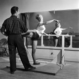 Young Upcoming Starlet Marilyn Monroe Practicing in Dance Class Premium Photographic Print by J. R. Eyerman