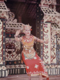 Balinese Girls Dance in Honor of Khrushchev Visit to Denpassar, Indonesia Premium Photographic Print by John Dominis