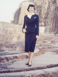 Eastern Airlines Stewardesses in Puerto Rico Photographic Print by Joe Scherschel