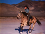 Actress Marcia Van Dyke on Horseback Premium Photographic Print by John Florea