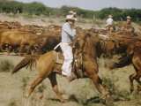 Cowboys on the King Range, TX Photographic Print by Eliot Elisofon