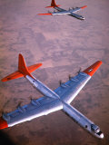 Intercontinental B-36 Bomber Flying over Texas Flatlands Premium Photographic Print by Loomis Dean