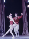 "Edward Villella Dancing ""Rubies"" Sequence with Patricia Mcbride in Balanchine's Ballet ""The Jewels"" Premium Photographic Print by Art Rickerby"