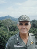 General William Westmoreland in Vietnam, Photographic Print