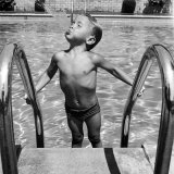 Duncan Richardson, 3-Year-Old Swimming Prodigy, Spouting Water Like a Whale, Town House Pool Photographic Print by Martha Holmes