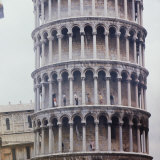 People Walking on Upper Levels of the Tower of Pisa Photographic Print by Ralph Crane