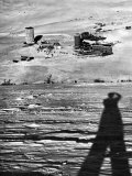 Shadow of Photographer Alfred Eisenstadt on Slopes of Winter Resort in the Italian Alps Premium Photographic Print by Alfred Eisenstaedt
