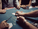 Gambling Table in a New Orleans Casino Premium Photographic Print by Arthur Schatz