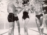 Underwater Shot of Actress Daphne Dayle in Topless, One Piece Swim Suit by Designer Ruben Torres Premium Photographic Print by Paul Schutzer