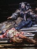 "Singer Leontyne Price in Opera ""Antony and Cleopatra"" at the Opening of the New Metropolitan Opera Premium-Fotodruck von Michael Rougier"
