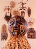Contemporary Art from the Congo: Carved, Painted, and Decorated Wooden Masks Premium Photographic Print by Dmitri Kessel