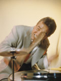 Jazz Drummer Gene Krupa in Action Premium Photographic Print by Eliot Elisofon