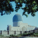 Building with Blue Dome, Registan in Samarkand, USSR Photographic Print by Howard Sochurek