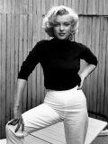 Actress Marilyn Monroe at Home Reproduction sur métal par Alfred Eisenstaedt