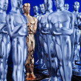 Motion Picture Academy, the Oscarsoscar Statuette at Academy Awards Theater, Hollywood Photographic Print by Bill Eppridge
