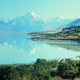 New Zealandsnow-Capped Mountain in New Zealand Photographic Print by George Silk
