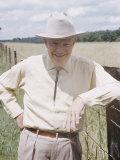 Dwight Eisenhower in Retirement Premium Photographic Print by Ed Clark
