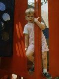 Children at Play in New York City Playgrounds Premium Photographic Print by John Zimmerman