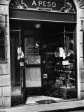 Cats Perching Outside Entrance to Perfume Shop Photographic Print by Alfred Eisenstaedt