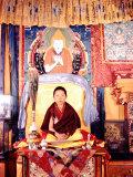 Tibetan Boy Lama Premium Photographic Print by Mark Kauffman