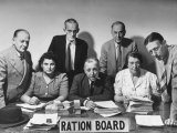 Members of the Bristol Ration Board Who are All Volunteers Doing a Tough Job without Pay Premium Photographic Print by Herbert Gehr