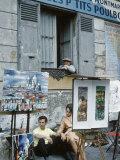 The Parisians: Artists on Place du Terte Near Sacre Coeur Montmartre Premium Photographic Print by Alfred Eisenstaedt