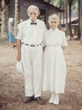 Dr. Albert Schweitzer with Ali Silver, Long Time Nurse at His Lambarene Compound, Photographic Print