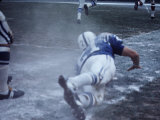 Baltimore Colts Player Rick Volk in Action Premium Photographic Print by Art Rickerby