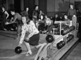 Dubutantes with Bowling with their Dates Premium Photographic Print by William C. Shrout