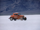 Bonneville Hot Rod Meet at the Bonneville Salt Flats in Utah Premium Photographic Print by J. R. Eyerman