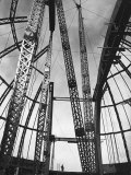 Girders Spanning Space in Dome Pattern, Construction of Palomar Telescope, Mt. Wilson Observatory Premium Photographic Print by Margaret Bourke-White