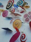 Japanese Imports: Umbrellas Premium Photographic Print by Eliot Elisofon