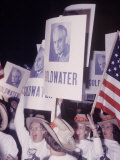 People Waving Senator Barry M. Goldwater Posters at Young Republican Convention Premium Photographic Print by Leonard Mccombe