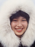 Portrait of a Native Alaskan Woman Premium Photographic Print by Ralph Crane