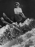 Future Olympic Gold Medalist Andrea Mead Lawrence, 15, Practicing for Winter Olympics, Sun Valley, Photographic Print