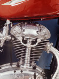 Motorcycles: Closeup of a Ducati Engine Photographic Print by Yale Joel