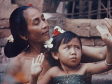 Balinese Mother and Child Premium Photographic Print by Co Rentmeester
