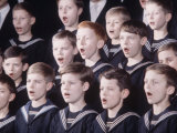 East German Tomaner Choir of Leipzig Boys Choir Premium Photographic Print by Ralph Crane