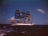"Joseph Davies' Yacht ""Sea Cloud"" in the Caribbean Premium Photographic Print by Eliot Elisofon"