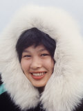 Portrait of a Native Alaskan Woman Premium Photographic Print by Ralph Crane