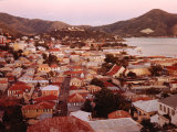 The Carribean: Low Aerials of Charlotte Amalie Capital of St Thomas Premium Photographic Print by Eliot Elisofon