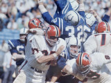 Baltimore Colts Football Player Billy Ray Smith in Action Premium Photographic Print by Art Rickerby