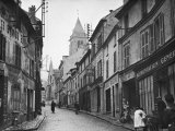 View of the Town of Cormeilles-En-Parisis Where Daguerre was Born Premium Photographic Print by Kitrosser